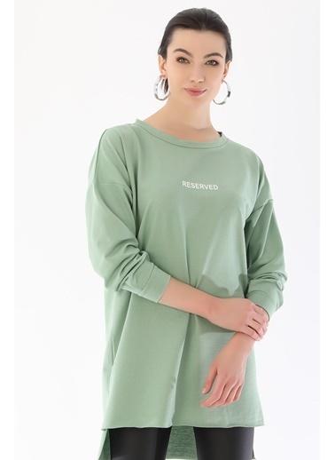 Emjey Basic Uzun Tunik Yeşil